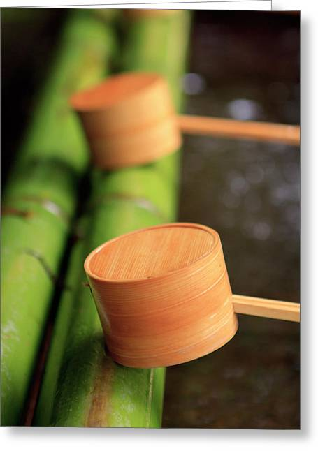 Wooden Ladles Are Placed Greeting Card by Paul Dymond