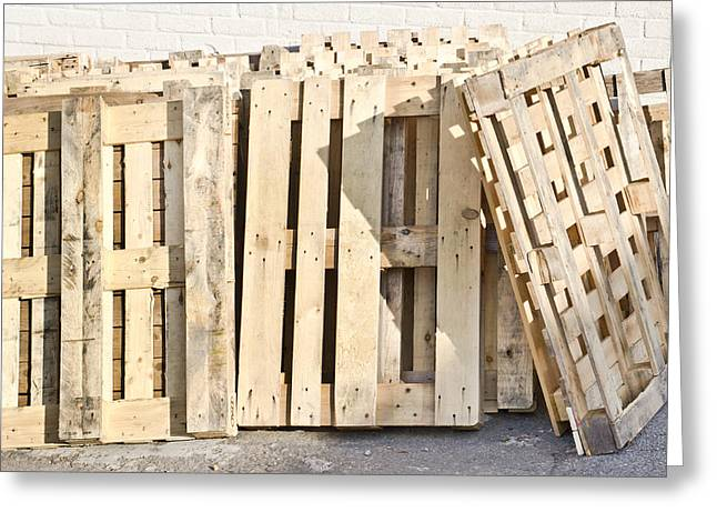 Wooden Pallets Greeting Card