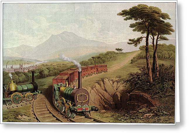 Wooden-railed Railway Greeting Card
