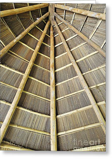 Wooden Roof Greeting Card