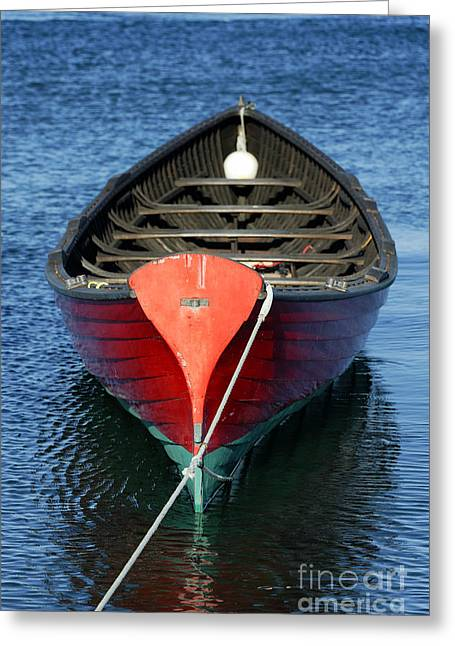 Wooden Rowboat Greeting Card by John Greim