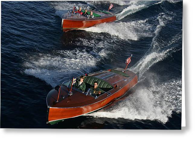 Wooden Runabouts Greeting Card by Steven Lapkin