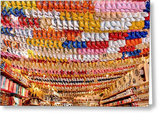 Wooden Shoes Greeting Card by Brent Durken