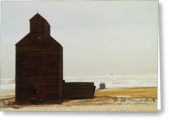 Wooden Silo Greeting Card by Jeff Swan