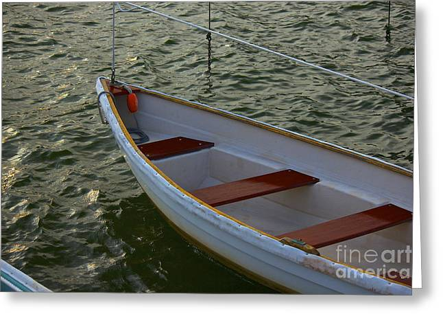 Wooden Skiff Greeting Card by Amazing Jules
