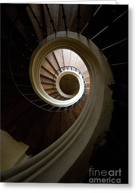 Wooden Spiral Greeting Card by Jaroslaw Blaminsky