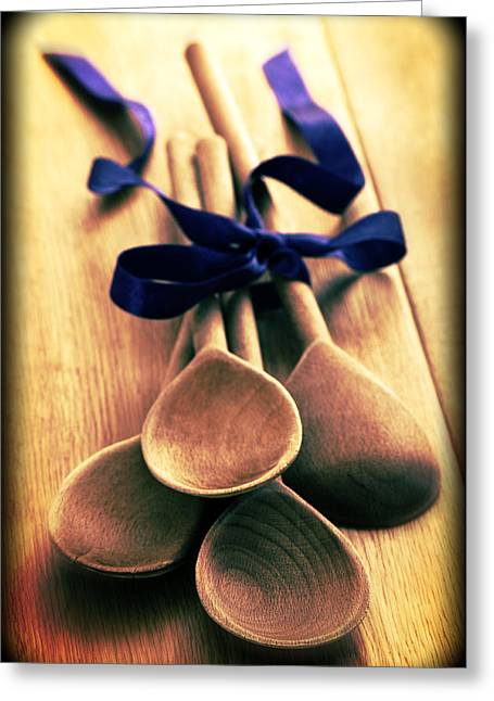 Wooden Spoons Greeting Card by Amanda Elwell