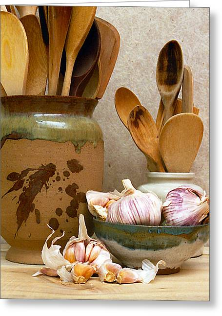 Wooden Spoons Vi Greeting Card by Ken Evans