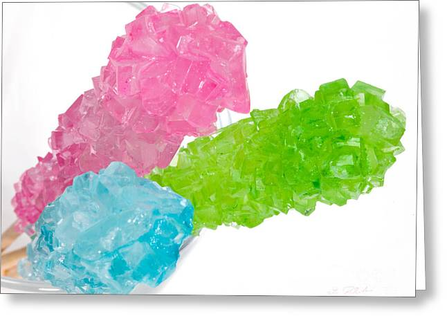 Wooden Sticks Covered With Rock Candy Greeting Card