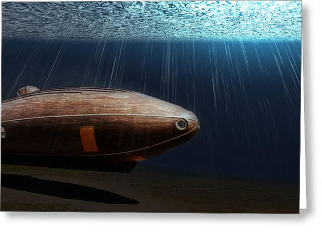 Wooden Submarine Ictineo II Lv Greeting Card