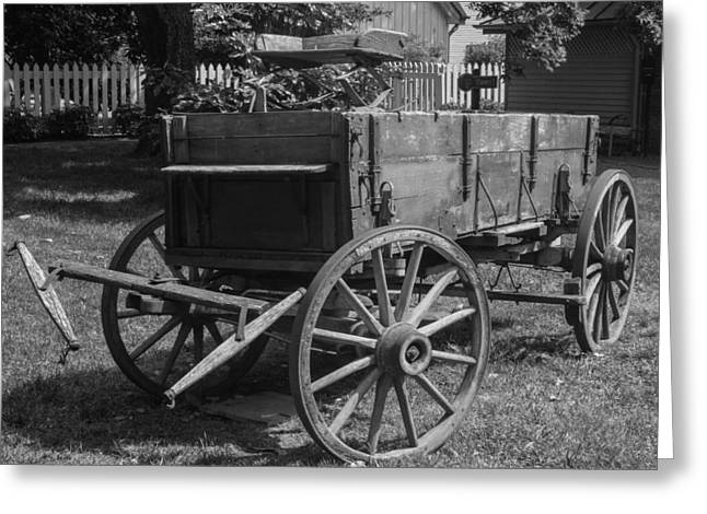 Greeting Card featuring the photograph Wooden Wagon by Robert Hebert