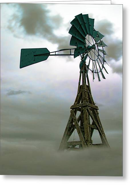 Wooden Windmill Greeting Card
