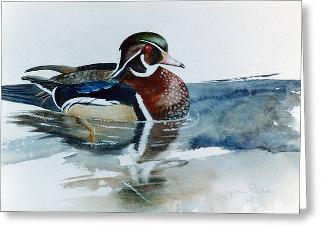 Woodie Greeting Card by Lynne Parker