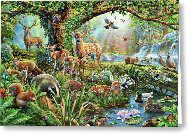 Woodland Creatures Greeting Card