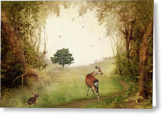 Woodland Friends Greeting Card by Sharon Lisa Clarke