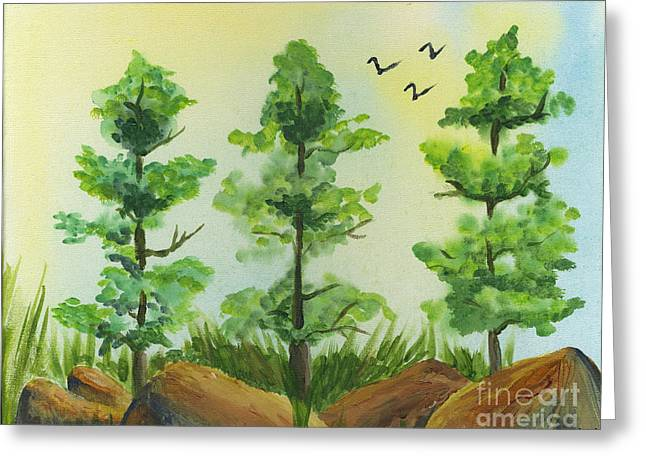 Woodland Guards Greeting Card