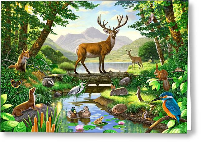 Woodland Harmony Greeting Card by Chris Heitt