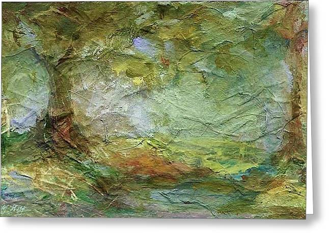 Woodland Impressions Greeting Card by Mary Wolf