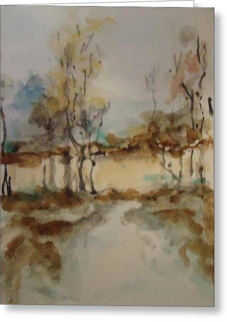 Woodland Landscape Greeting Card by Katie Spicuzza
