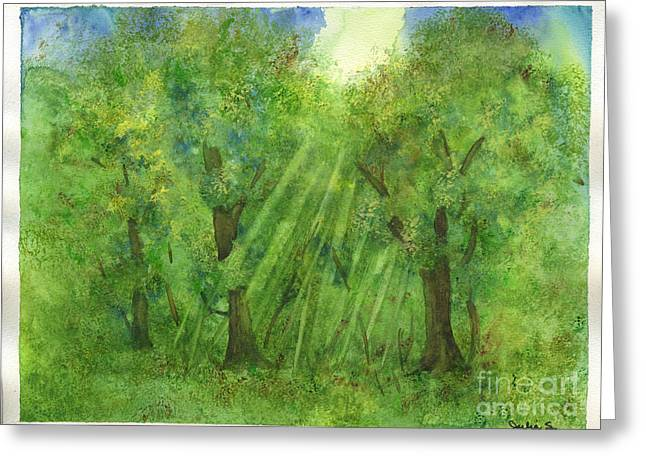 Woodland Reflections Greeting Card