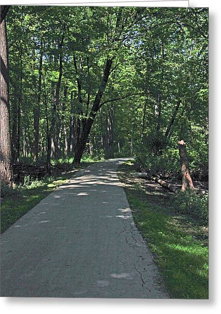 Woodland Road Greeting Card