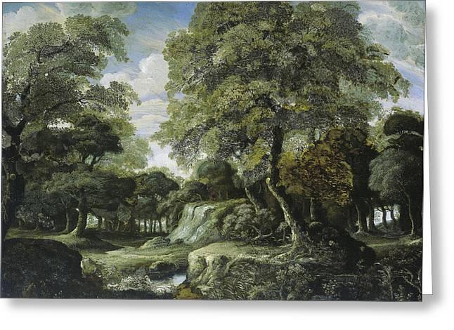 Woodland Scene, Jan Van Der Heyden Greeting Card