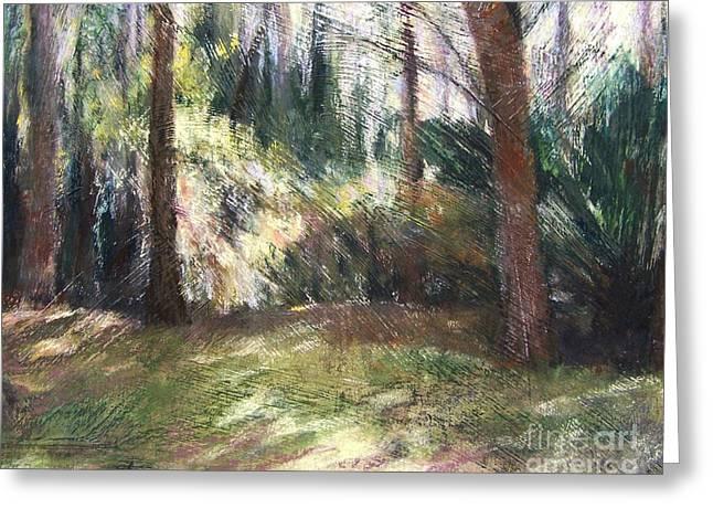 Woodland Shadows Greeting Card by Mary Lynne Powers