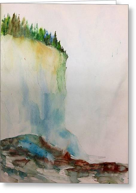 Woodland Trees On A Cliff Edge Greeting Card