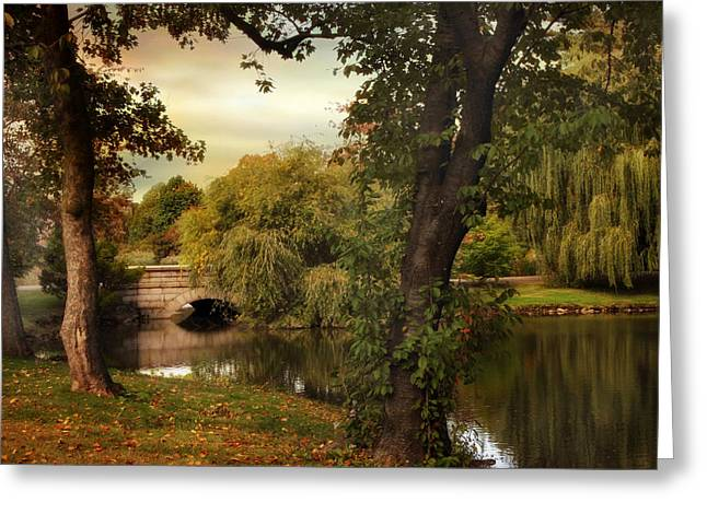 Woodlawn Reflections Greeting Card by Jessica Jenney