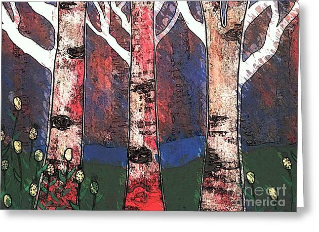 Woodlin Greeting Card by Amy Sorrell