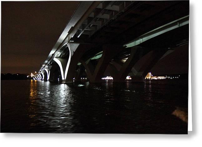 Woodrow Wilson Bridge - Washington Dc - 011335 Greeting Card by DC Photographer