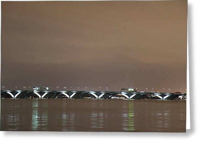 Woodrow Wilson Bridge - Washington Dc - 01134 Greeting Card by DC Photographer