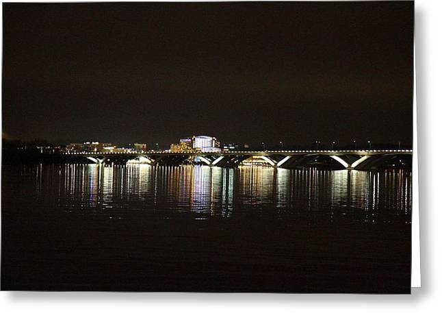 Woodrow Wilson Bridge - Washington Dc - 011342 Greeting Card by DC Photographer