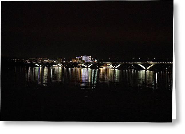Woodrow Wilson Bridge - Washington Dc - 011343 Greeting Card by DC Photographer