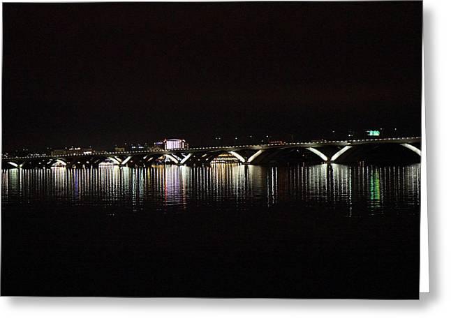 Woodrow Wilson Bridge - Washington Dc - 011344 Greeting Card by DC Photographer