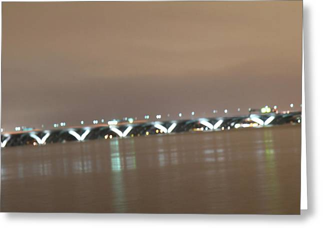 Woodrow Wilson Bridge - Washington Dc - 01136 Greeting Card by DC Photographer