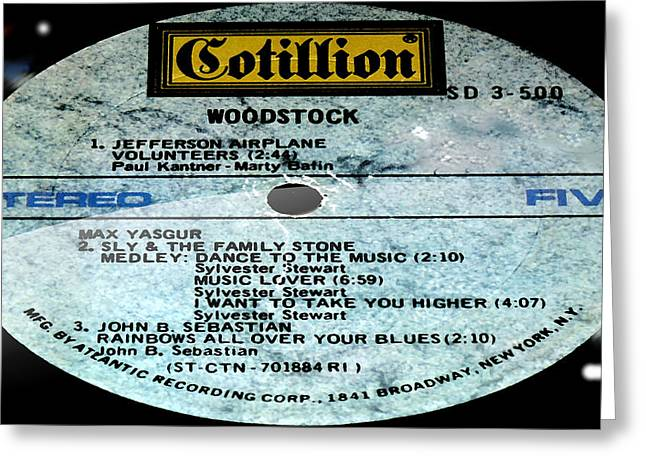 Woodstock Side 5 Greeting Card by Marcello Cicchini