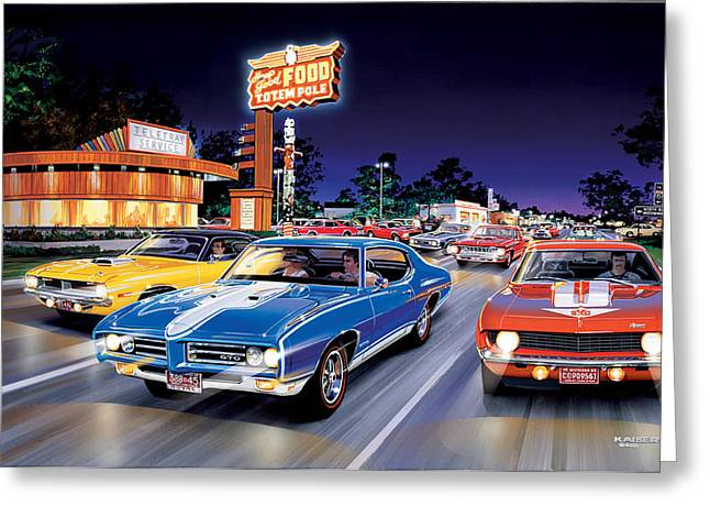 Woodward Avenue Greeting Card by Bruce Kaiser