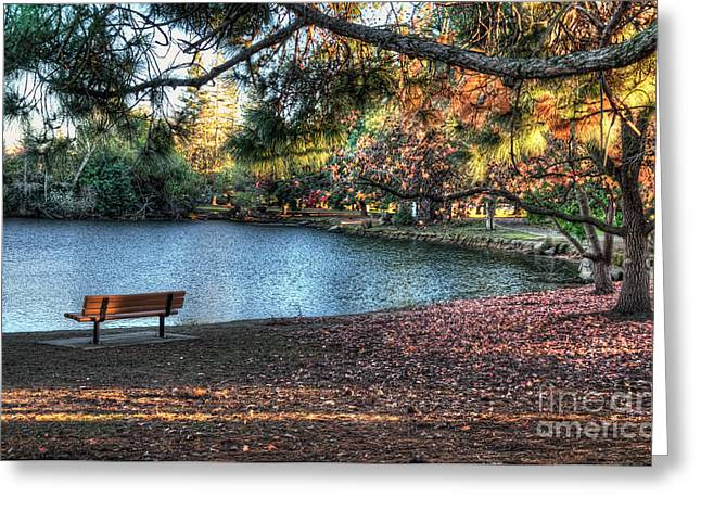 Woodward Park Greeting Card by Eddie Yerkish