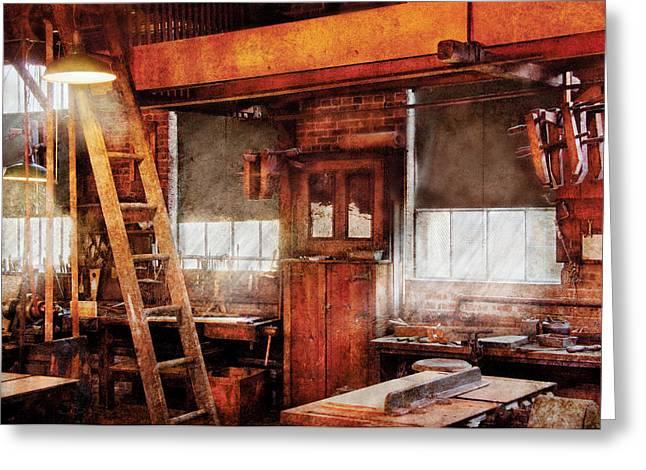 Woodworker - Old Workshop Greeting Card