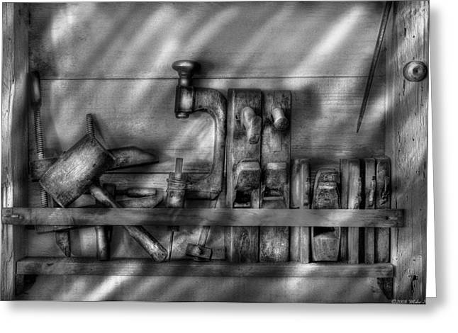 Woodworker - Wood Working Tools Greeting Card by Mike Savad