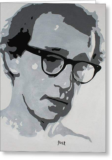 Woody Allen Greeting Card by Oscar Penalber