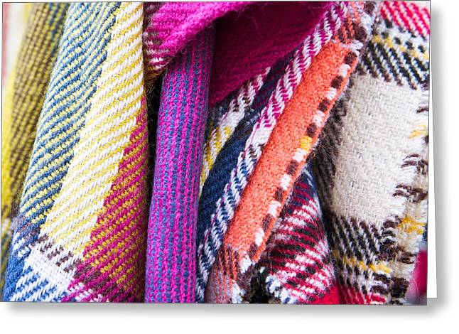 Wool Blankets Greeting Card by Tom Gowanlock