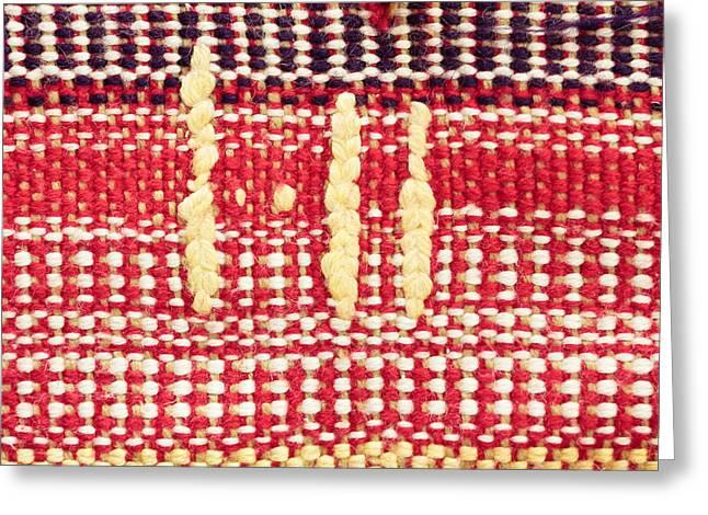 Wool Carpet Greeting Card by Tom Gowanlock
