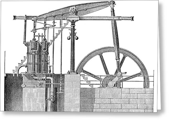Woolf Steam Engine Greeting Card by Science Photo Library