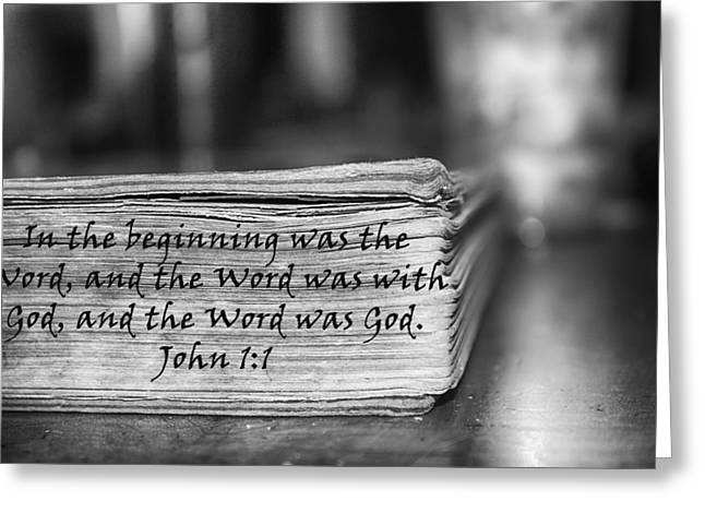 Word Bw Greeting Card by Angelina Vick