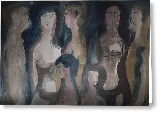 Wordless People Greeting Card by Horst Braun