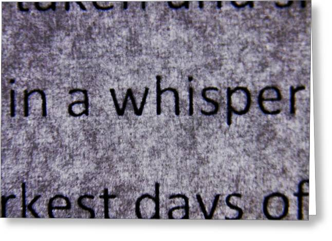 Words - In A Whisper Greeting Card