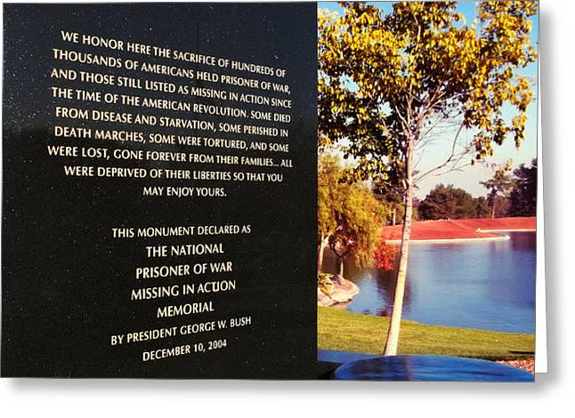Words Of Honor Greeting Card by Glenn McCarthy Art and Photography