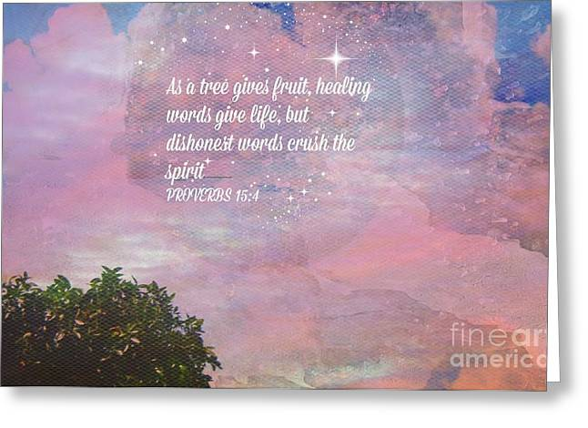Words Of Wisdom Greeting Card by Sherri's Of Palm Springs